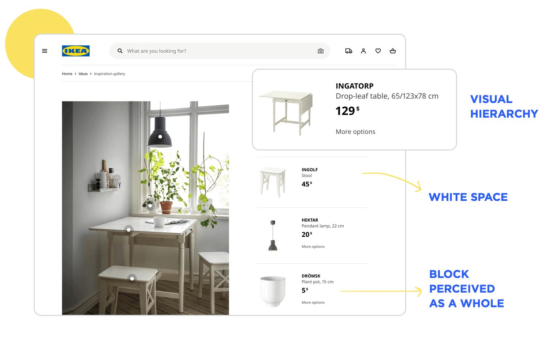 principle of balance between visual elements in web design