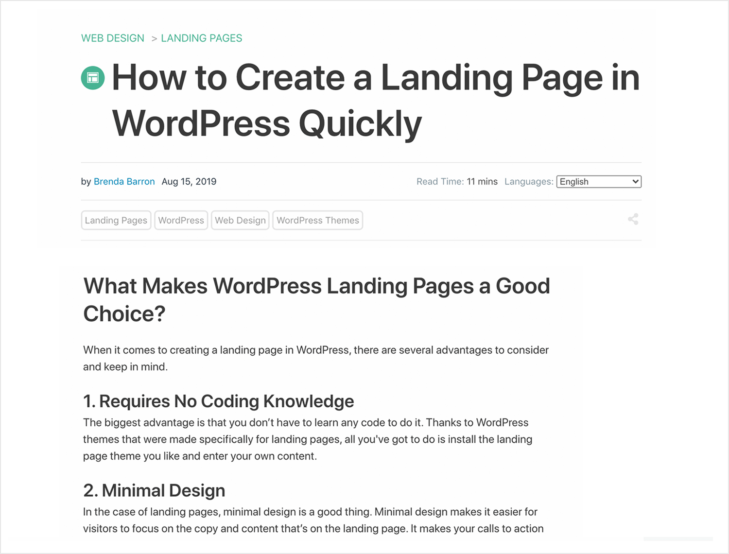 tutorial on how to create a webpage in wordpress