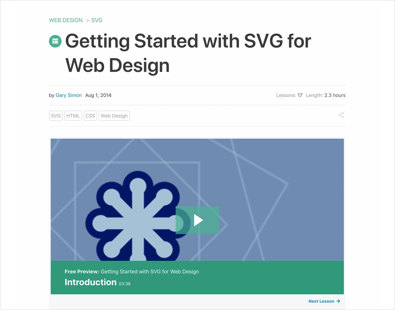 tutorial on creating svg for web design