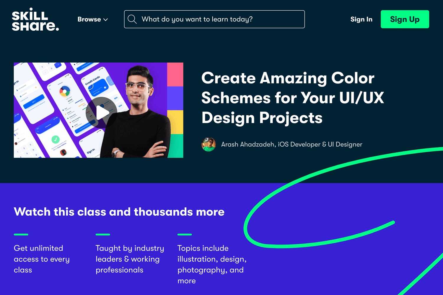 web design tutorial on color schemes and theory