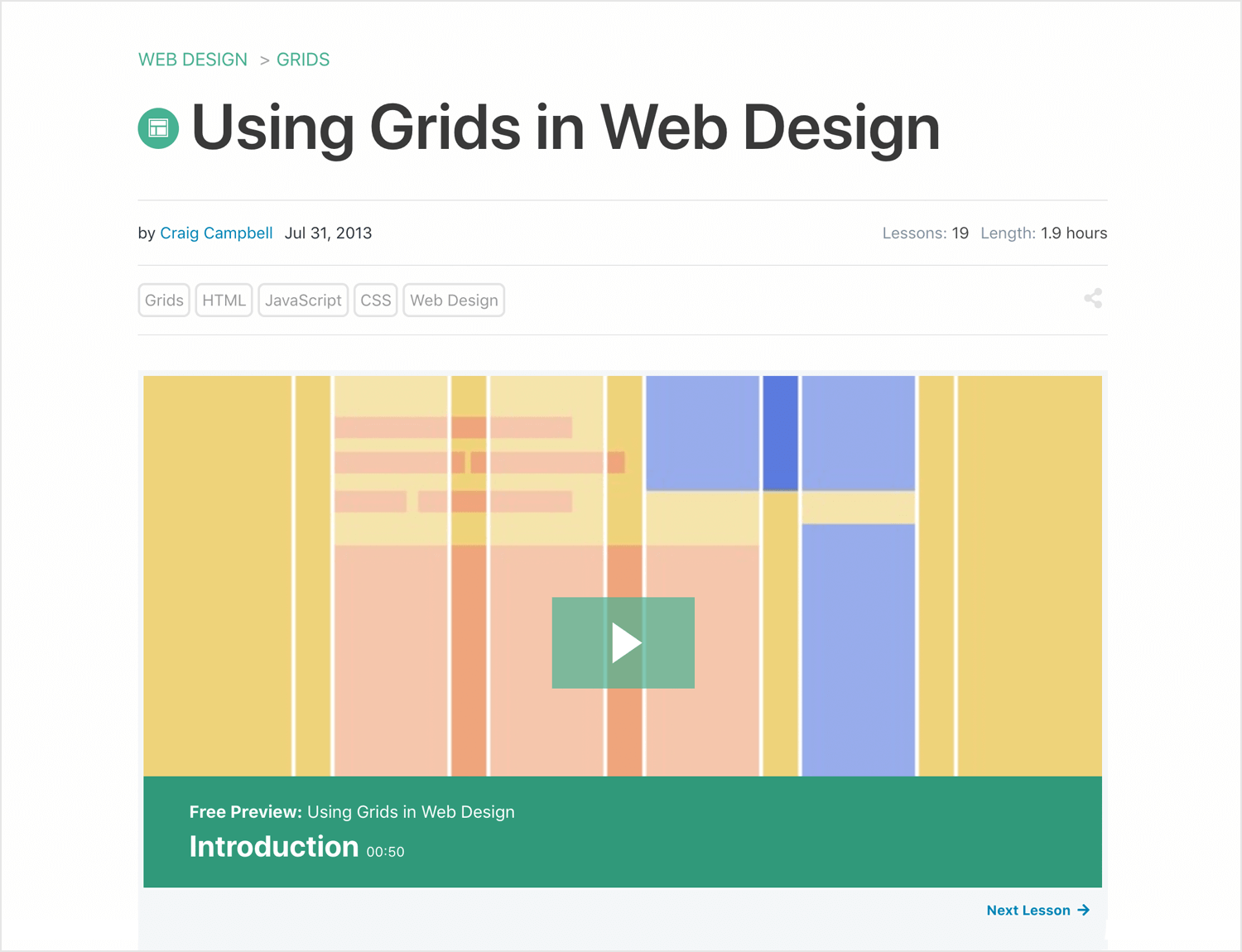 web design tutorial on how to use grids