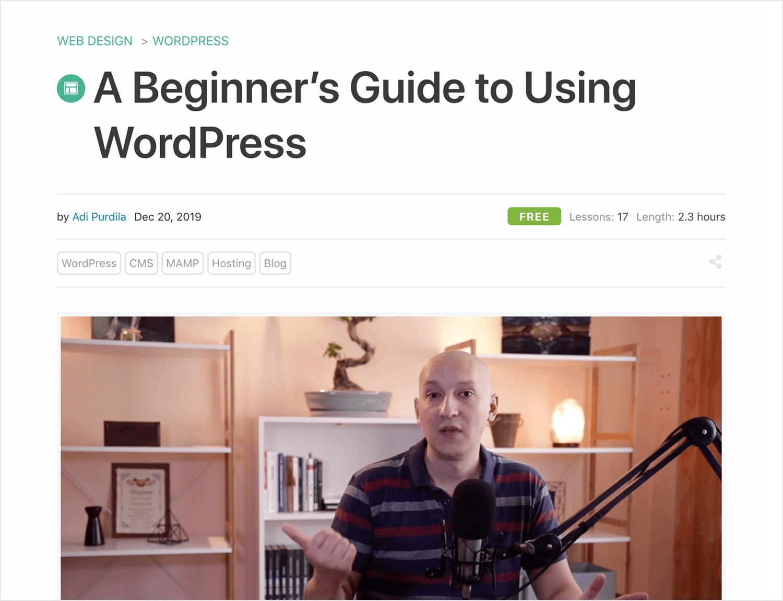 tutorial as a beginners guide to wordpress